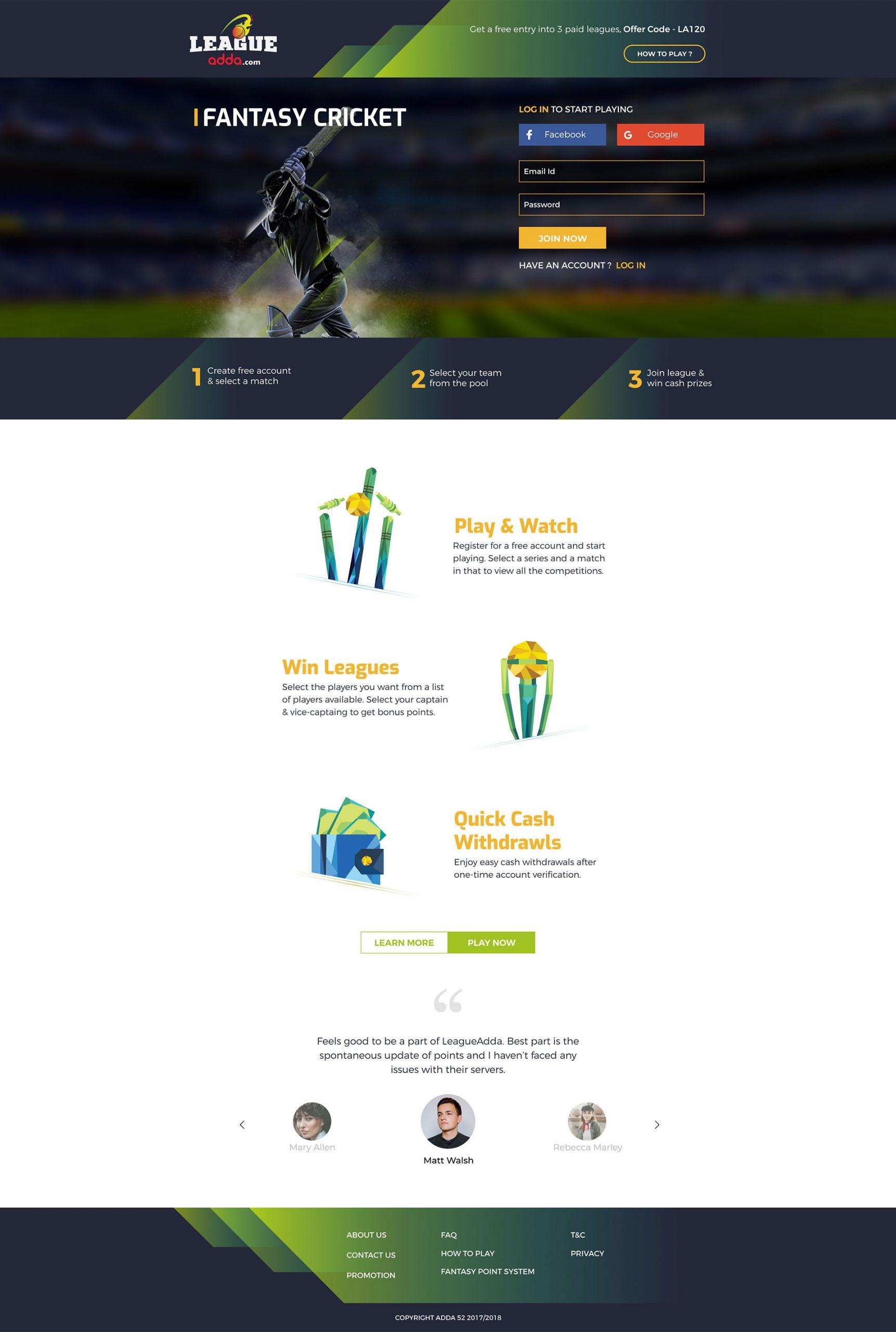 League_Adda_Homepage
